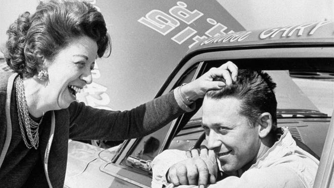 Gary Bettenhausen, shown here with his mother in April 1963, died Sunday at 72.