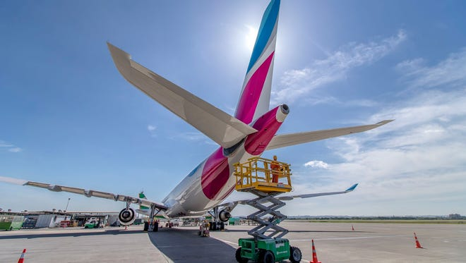 File photo of Eurowings, the budget airline of the Lufthansa Group.