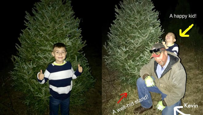 Julie Watt took her son Bentley to Roehler's Christmas Tree Farm in Centerville, not expecting how much its workers would help make the tree selection process easier for her family.