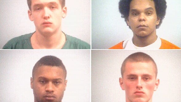Clockwise from top left: Blake Layman, 19; Jose Quiroz Jr., 19; Levi Sparks, 20; and Anthony Sharp Jr., 21, received five-decade sentences for the murder of their friend Danzele Johnson, 21.