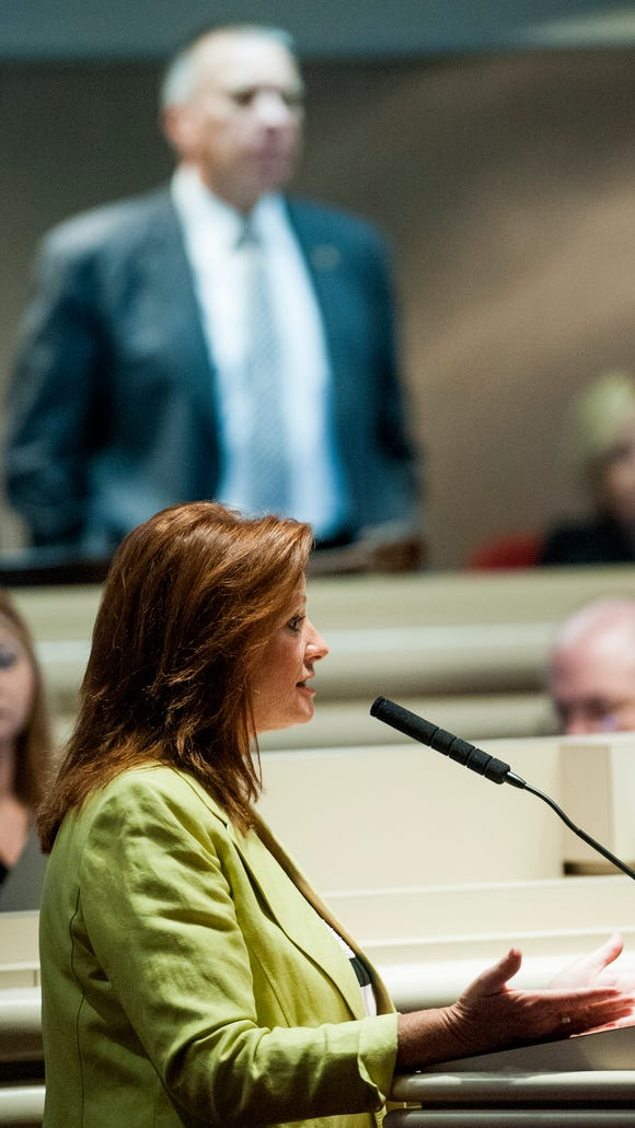 Rep. Terri Collins during the Special Session of the
