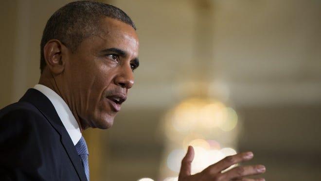 President Obama speaks at the White House on July 13, 2015.