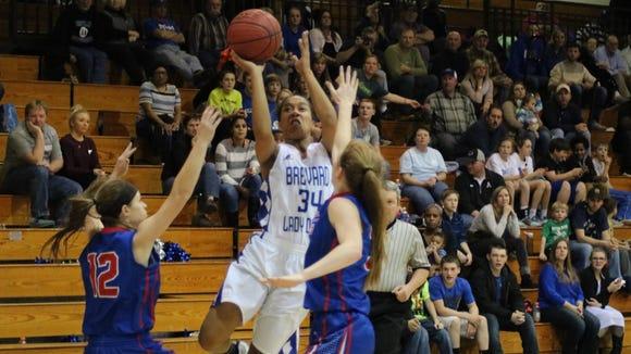 Brevard junior Nijayah Cruell leads her basketball team in four statistical categories.