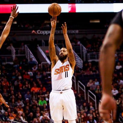 Suns forward Markieff Morris has averaged 21.0 points,