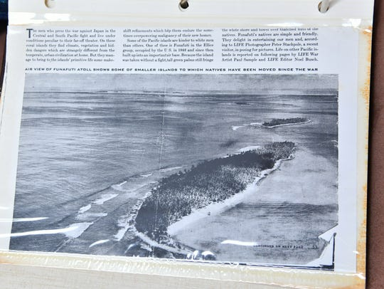A photo of Funafuti Atoll. Bernie Keene of Satellite