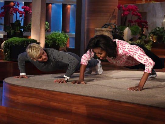 Talk show host Ellen DeGeneres challenges First Lady
