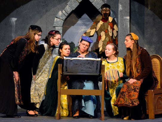 """Dress rehearsal for the DreamWrights production """"Young"""