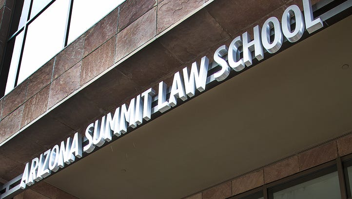 The main entrance of Arizona Summit Law School at 1 N. Central Ave. in downtown Phoenix.