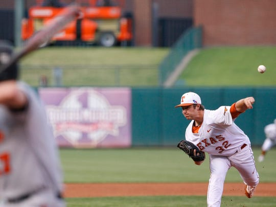 Texas pitcher and former Cathedral star Dillon Peters.