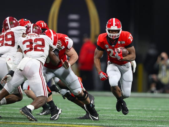 Georgia running back Nick Chubb.