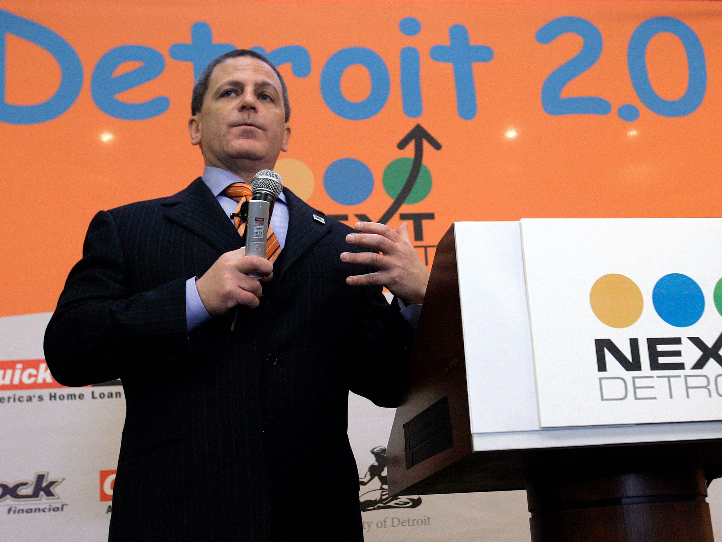 Quicken Loans founder and chairman Dan Gilbert announces