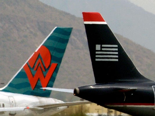 121979 amwestpic Tail Section & Logo America West Airlines US Airways