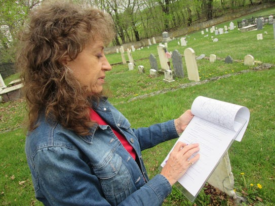 Genealogist Pam Anderson, volunteer for the Franklin