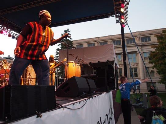 Ruben Koroma of the Sierra Leone's Refugee All-Stars