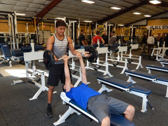 Ruidoso High School athletes try out the equipment