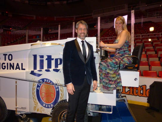 Zamboni hot-rodders Sean Emery and April Wagner of