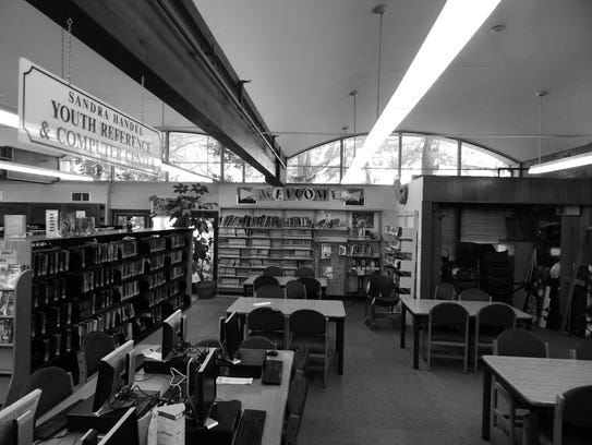 This photo shows the Paramus Public library before