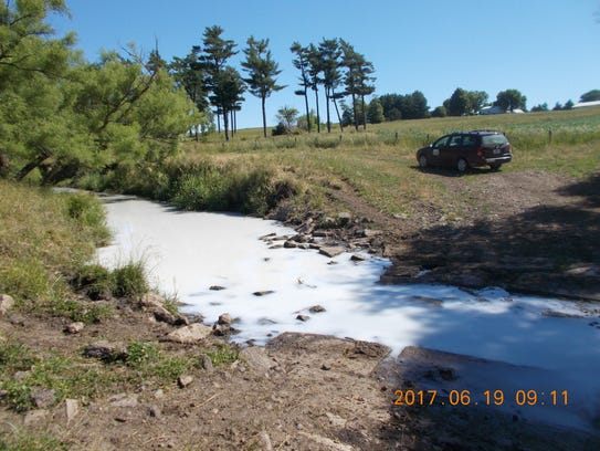 Up to 7,500 gallons of milk spilled from a tanker into