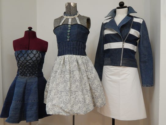 Entries from the denim reuse contest held by SewGreen.