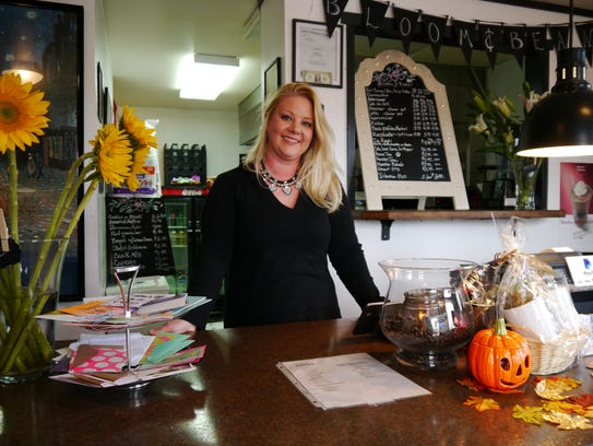 Rebecca Hannant owns Bloom and Bean flower and coffee
