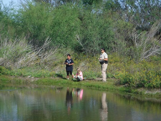 Texas Game Warden Wei-Wei Lin spent time with the campers,