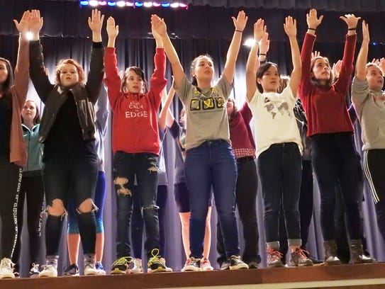 """River View High School students rehearse for """"The Best"""