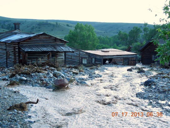 Bannack State Park flood July 2013