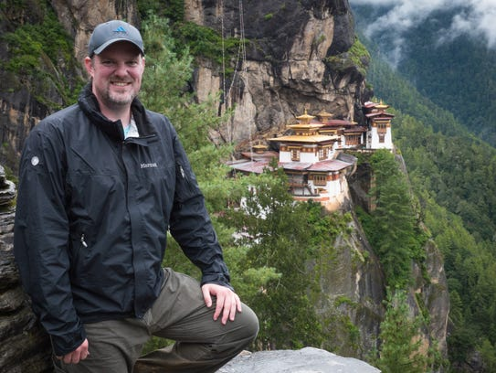Robert Hixon Hanson, president of Beartooth Productions, is shown in Bhutan, where he was filming a project.