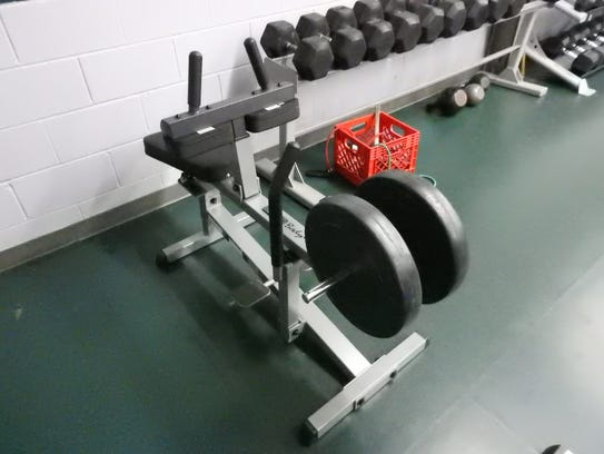A calf raise machine was one of the new pieces equipment