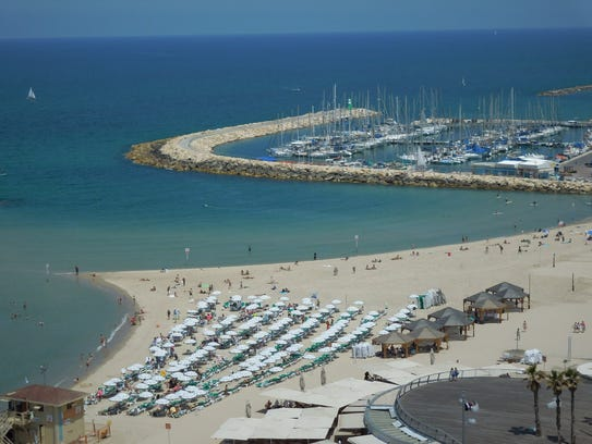 Most of the Israeli restaurants participating in the world culinary tour are located in trendy Tel Aviv, which also is known for great beaches.