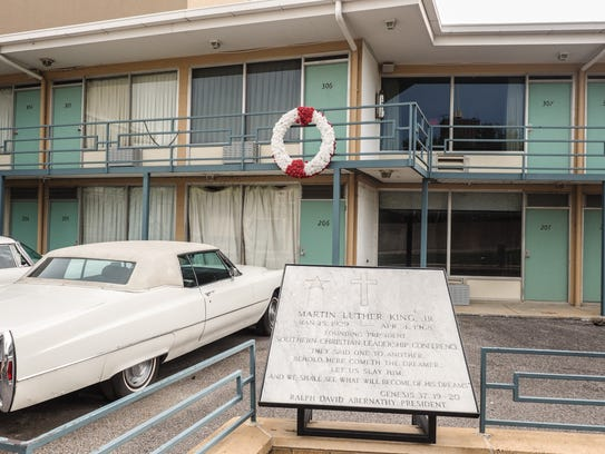 Room 306 at the Lorraine Motel in Memphis, where King