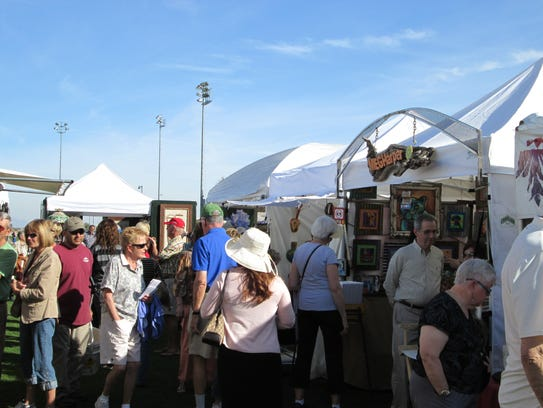 During the Surprise Fine Art and Wine Festival, patrons