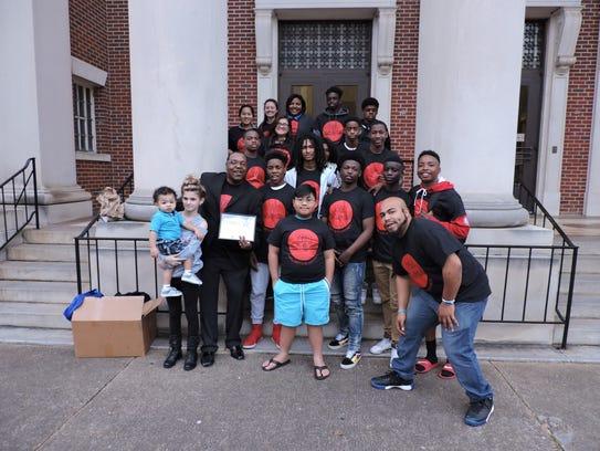 Charles Lee celebrates his Community Heroes Montgomery