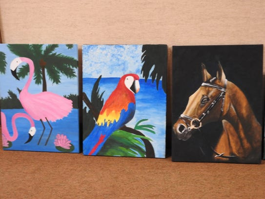 Paintings and other artwork by local high school students