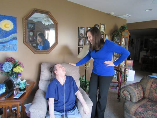 Chloris Cooley chats with CAC's Aging Services Manager