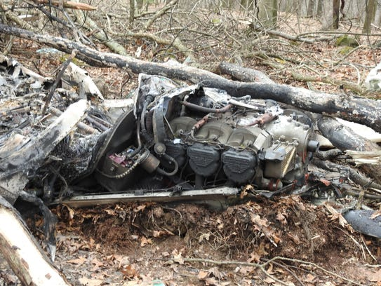 A Beechcraft Bonanza crashed Monday morning in a wooded