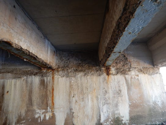 Deck under the Valley Road Bridge linking Long Hill