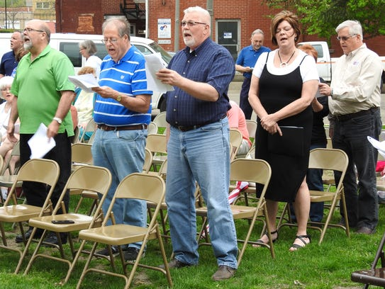Pastors Bryan Kittner, Phillip Hunt, Joe Sanders, Kathy