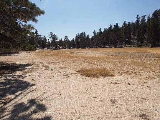 Hidden Lake in Mount San Jacinto State Park is often dry during part of the year.