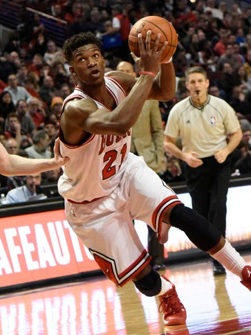 Jimmy Butler scored a game-high 33 points for the Bulls.