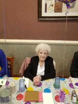 Vera (MacDonald) Schlosser of the Monmouth Junction section of South Brunswick celebrated her 100th birthday on Saturday, March 10.