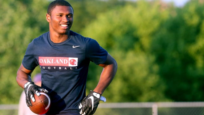Oakland's JaCoby Stevens will announce his college choice on Aug. 8.
