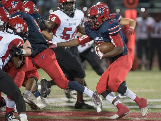 Franklin ball carrier Isaac Moore was voted Hometown Life Athlete of the Week.