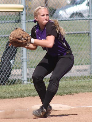 Glen Este's Megan Downey covers third base for the Lady Trojans and is the team's top hitter.