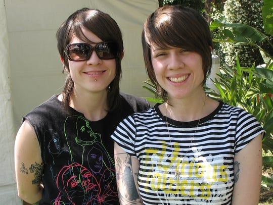 Tegan and Sara, photographed at the 2008 Coachella