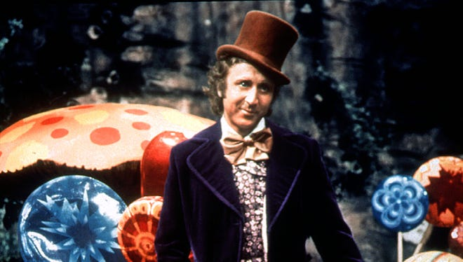 """Actor Gene Wilder in the classic film """"Willy Wonka and the Chocolate Factory."""""""