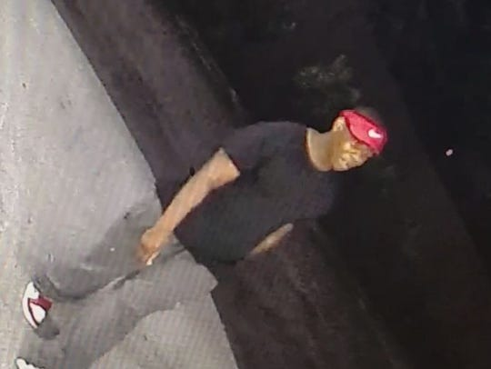 One of the suspects from Thursday night's armed robbery.