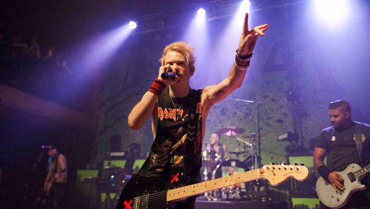 Sum 41 frontman Deryck Whibley belts out the vocals
