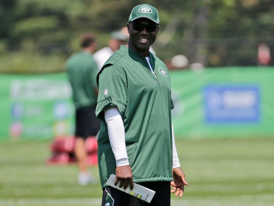 New York Jets head coach Todd Bowles smiles during