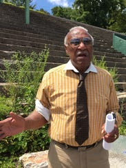 Former Mount Vernon Mayor Ernie Davis at Memorial Field